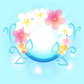 Spring frame with flowers. — Stock Vector