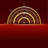 Czerwone tło z elementem złota. — Wektor stockowy