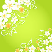 Spring floral background. — Stock Vector