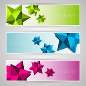Vector banners with abstract elements. — Stock Vector