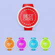 Best  choice tags. Vector. — Stock Vector