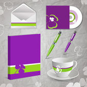 Sheets of paper, envelopes, pen and lorgnette — Stock Vector