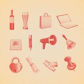 Household items. Vector illustration — Stock Vector