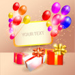 Decoration Ready For Birthday  — Stock Vector