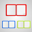 Colored notebook set — Stock Vector #22369751