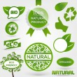 Vector Eco Stamps and Labels. Eco Style. — Stock Vector