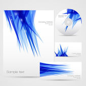Ice futuristic background set — Stock Vector