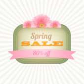 Vintage card - Spring Sale — Stock Vector