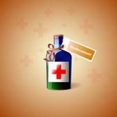Medycyna butelki z krzyża — Wektor stockowy