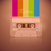 Retro Audio Cassette Tape — Stock Vector