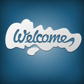 Lettering Welcome — Stock Vector