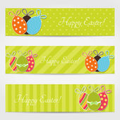 Easter set of banners — Stock Vector