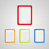 Colored notebook set — Stock Vector