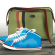 Sneakers and bag. — Stock Vector #22370365