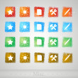 Set of buttons for web. Vector illustration. — Stockvectorbeeld