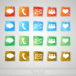 Set of buttons for web. Vector illustration. — Imagen vectorial