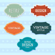 Vintage retro labels. — Stock Vector