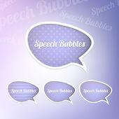 Group of speech bubbles — Stock Vector