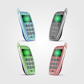 Set of vector cell phones — Stock Vector