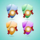 Set of vector shields — Stock Vector