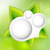 Vector fondo con hojas verdes. — Vector de stock