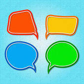 Set of colorful speech bubbles. — Vector de stock