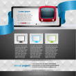 Website design template. — Stock Vector
