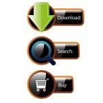 Web Elements Vector Button Set — Stock Vector