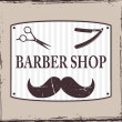 Stock Vector: Barber Shop or Hairdresser icons