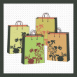 Vector floral shopping bags — Stock Vector