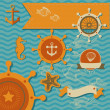 Vector set - Sefauna, Marine things — Stockvector #22626511