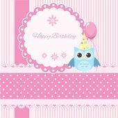 Vector birthday card — Stock Vector
