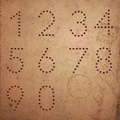 винтажный стиль чисел набрана. — Cтоковый вектор