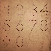 Comporre numeri stile vintage. — Vettoriale Stock