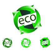 Vector eco icons — Stock Vector