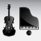 Vektör müzik aletleri — Stok Vektör