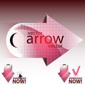 Vector arrow — Stock Vector