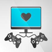 Console de jeux vidéo. vector — Vecteur