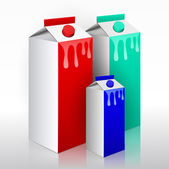 Milk carton. Vector — Vector de stock