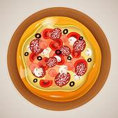 Pizza vector illustration — Stock Vector