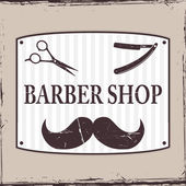 Barber Shop or Hairdresser icons — Stock Vector