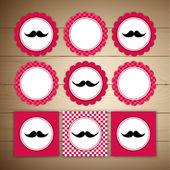 Vector retro mustache — Stock Vector