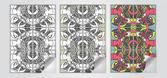 Vector set of art banners — Stock Vector