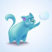 Cute vector cat — Stock Vector