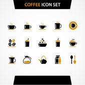 Vector coffee icons set. — Stock Vector