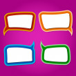 Speech bubbles. — Stock Vector