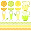 Citrus juice - vector illustration — Stock Vector