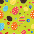 Seamless pattern with easter eggs — Stock Vector