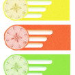 Citrus background — Vector de stock #22965216