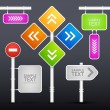 Editable street signs - Vettoriali Stock